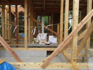 二世帯住宅を建てる過程「上棟式」4