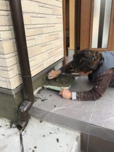 二世帯住宅を建てる過程「外装工事」