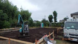 二世帯住宅を建てる過程「基礎打ち着工」1