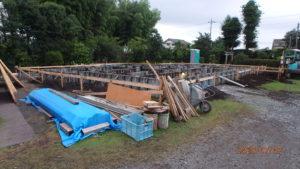 二世帯住宅を建てる過程「基礎打ち着工」2
