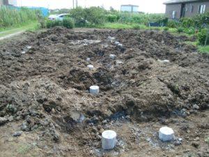 宇都宮市で平家を建てる過程「地盤補強」2