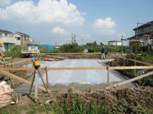 宇都宮市で平家を建てる過程「基礎打ち工事」1
