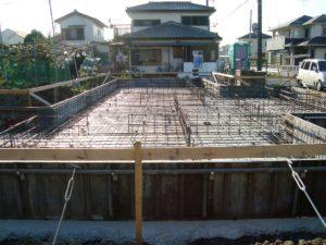 宇都宮市で平家を建てる過程「基礎打ち工事」2