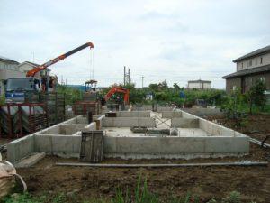 宇都宮市で平家を建てる過程「基礎打ち工事」4