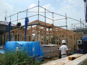 宇都宮市で平家を建てる過程「上棟」1