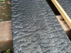宇都宮市で平家を建てる過程「焼杉(外壁)製作」3