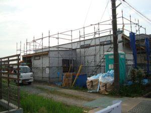 宇都宮市で平家を建てる過程「外壁下地」1