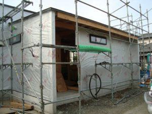宇都宮市で平家を建てる過程「外壁下地」2