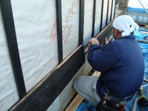 宇都宮市で平家を建てる過程「外壁」1