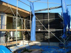 宇都宮市で平家を建てる過程「外壁」2