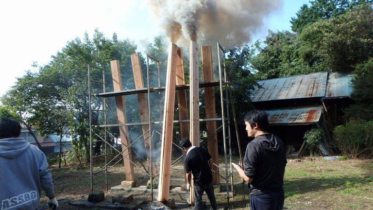 宇都宮市で平家を建てる過程「焼杉(外壁)製作」1